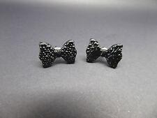 Negro Moño Corbata De Moño Stud Pendientes, Lindo, idea de regalo, orejas perforadas, bonita, diferentes