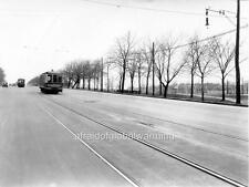 Photo. ca 1931. Montreal, Canada. Tram on Park Avenue