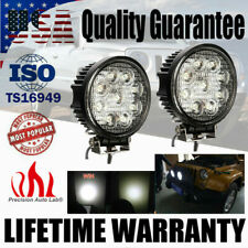 1 Pair 27W LED Work Light Bar Fog Flood Lamp For SUV Jeep Offroad Truck Tractor
