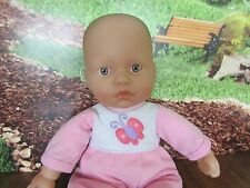 """9"""" soft body laughing loveable butterfly berenguer baby doll"""