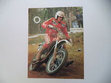 advertising Pubblicità 1983 MOTO GILERA 125 CROSS e CORRADO MADDII