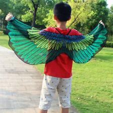 Child Girl Kid Cloak Fairy Butterfly Bird Costume Wings Cosplay Fancy Dress New