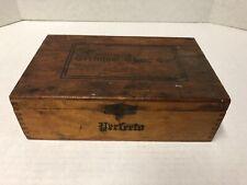 Vintage TERMINAL CIGAR CO Perfecto Wood Box