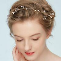 Hochzeit Kommunion Kopfschmuck Kunstperle Blumen Haarschmuck Braut Haargesteck