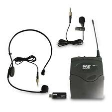 Pyle PUSBMIC43 Belt Pack Microphone System w/Wireless Receiver, Headset Mic