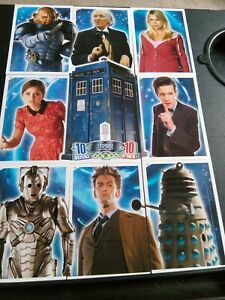 Dr Who 50th Anniversary TARDIS Cards Set Of Nine Cards T1 to T9
