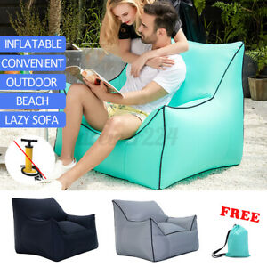 Deluxe Inflatable Armchair Chair Camping Sofa Couch Portable Lounger Seat