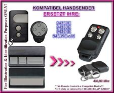 Liftmaster 94330E / Chamberlain 94335E kompatibel handsender, Ersatz  433,92Mhz
