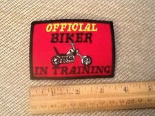 "Biker In Training 3 1/2"" Sew On Patch Biker Vest Jacket"