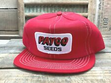 Vintage PAYCO SEEDS Snapback Trucker Cap Hat Patch NOMAD Made In USA