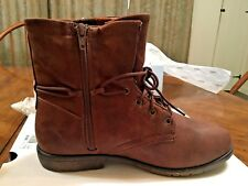 Women's Size 5 BROWN LEATHER Slouch Fashion Boots - NEW $50