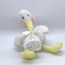 First and Main Baby Stork Bird Special Delivery Beanbag Plush Sewn Eyes
