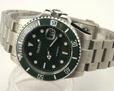 Parnis 40mm Ceramic Bezel sapphire glass Automatic mens watch 1005