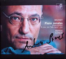 Andreas STAIER Signiert MOZART Sonata K.330 331 332 CD Piano Klaviersonaten
