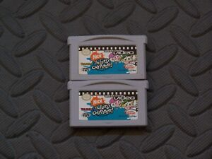 Lot Nintendo Game Boy Advance GBA Games GBA Video The Fairly OddParents V1 & 2