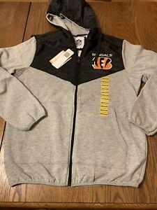 Cincinnati Bengals NFL Zip Up Hoodie  gray/black medium zip up hoodie
