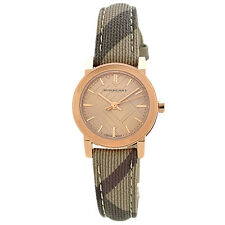 100% AUTHENTIC Burberry BU9236 Womens The City Collection Rose Gold Tone Watch