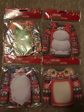 Ugly Christmas Sweater Notepads - Set of Four Stationery
