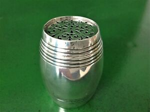 Antique George Fox Victorian Sterling Silver Pounce Pot London 1874