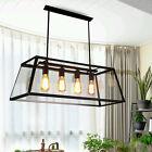 Glass Pendant Light Modern LED Ceiling Lights Black Chandelier lighting Bar Lamp