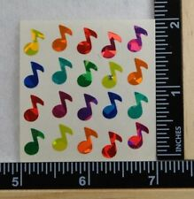 Sandylion SMALL MUSIC NOTES PRISMATIC Stickers 1 SQUARE