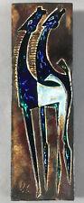 Fifties Keramik Wandplatte Fohlen Pferd Helmut Friedrich Schäffenacker Ulm ~1950