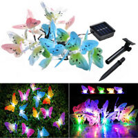 Solar 4.9M 20 LEDs String Lights Butterfly Fairy Light Garden Lamps for Outdoor