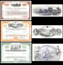 3 Monopoly Board Game Railroad Stock Certificates - Holiday Gift Idea