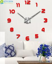 Moddrn Large Wall Clock Acrylic Stickers Watch Decor Living Room Quartz Needle