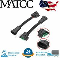 2pcs H11/H8 HID Bulb Adapter Socket Harness Male Female Connector Extension Plug
