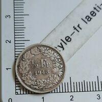 I08407 demi franc suisse 1948 pièce de monnaie argent silver coin