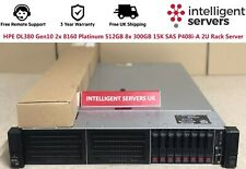 HPE DL380 Gen10 2x 8160 Platinum 512GB 8x 300GB 15K SAS P408i-A  2U Rack Server