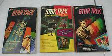 Star Trek The Enterprise Log Volumes 1, 3, and 4 Graphic Novel Golden Press 1976