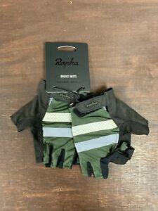 RAPHA Brevet Mitts Dark Green Size Large New