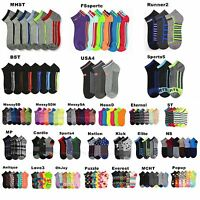 12 Pairs Lot Men Women Spandex Socks Multi Pattern Fashion Casual 9-11, 10-13