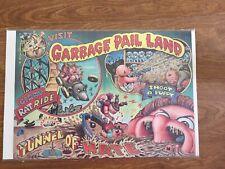 1986 Topps Garbage Pail Kids No 5 Of 18 Poster Visit Garbage Pail Land Boarded