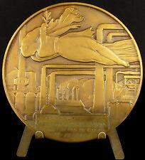 Médaille art déco Belgique Charleroi à Georges Phalempin Préfet 14/11/1954 Medal
