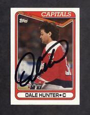 1990 Topps #129 Dale Hunter AUTOGRAPHED SIGNED Card w/JSA Certification