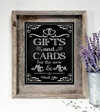 Cards & Gifts~ Wedding Sign  8x10  ~ Rustic/ Chalkboard PRINT /Collection.