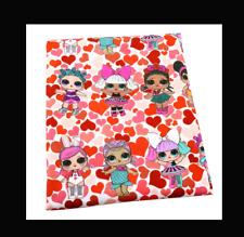 LOL Surprise Fabric  Poly Cotton 1m x 1.4m (width) Hearts
