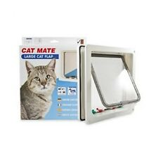 Cat Mate bloqueable grandes Gatera-Blanco (221w)