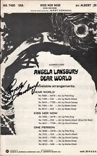 Dear World 1969 ANGELA LANSBURY Hand Signed AUTOGRAPHED Theatre Sheet Music!