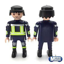 playmobil® Feuerwehr Figur: Feuerwehrmann | Firefighter | schwarz | Stoppelbart