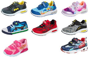 Kids Character Trainers Girls Boys Sports Shoes Easy Fasten Casual Skate Pumps