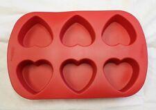 Wilton 3D Silicone 6 Cavity Heart Mold