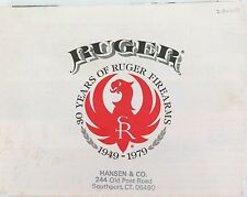 1979 STURM, RUGER FIREARMS CATALOGUE, FOLDS OUT TO LARGE DOUBLE SIDED POSTER.