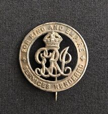 WW1 Silver War Badge Unresearched