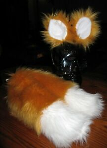 Sonic Miles Tails Prower Luxury Shag Faux Fur Ears Tails or Sets in 2 sizes
