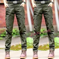 New Military Women's Cotton Tactical Outdoor Trousers Worker Army Straight Pants