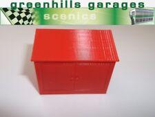 Greenhills Scalextric Pit building Storage Locker Red New  - MACC331